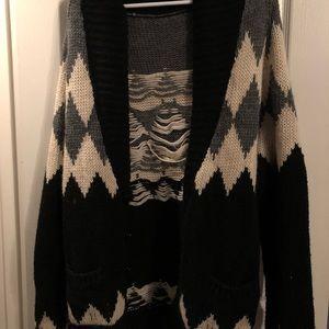 Brandy Melville: Oversized Wool Cardigan